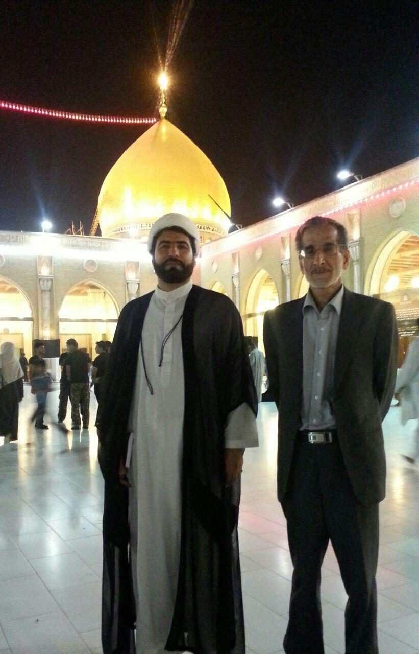 Imam Hussein shrine in Karbala along with students محمودرضا قاسمی